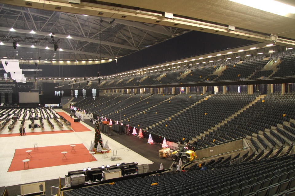 Chairs and telescopic stands at Friends Arena by Unisport