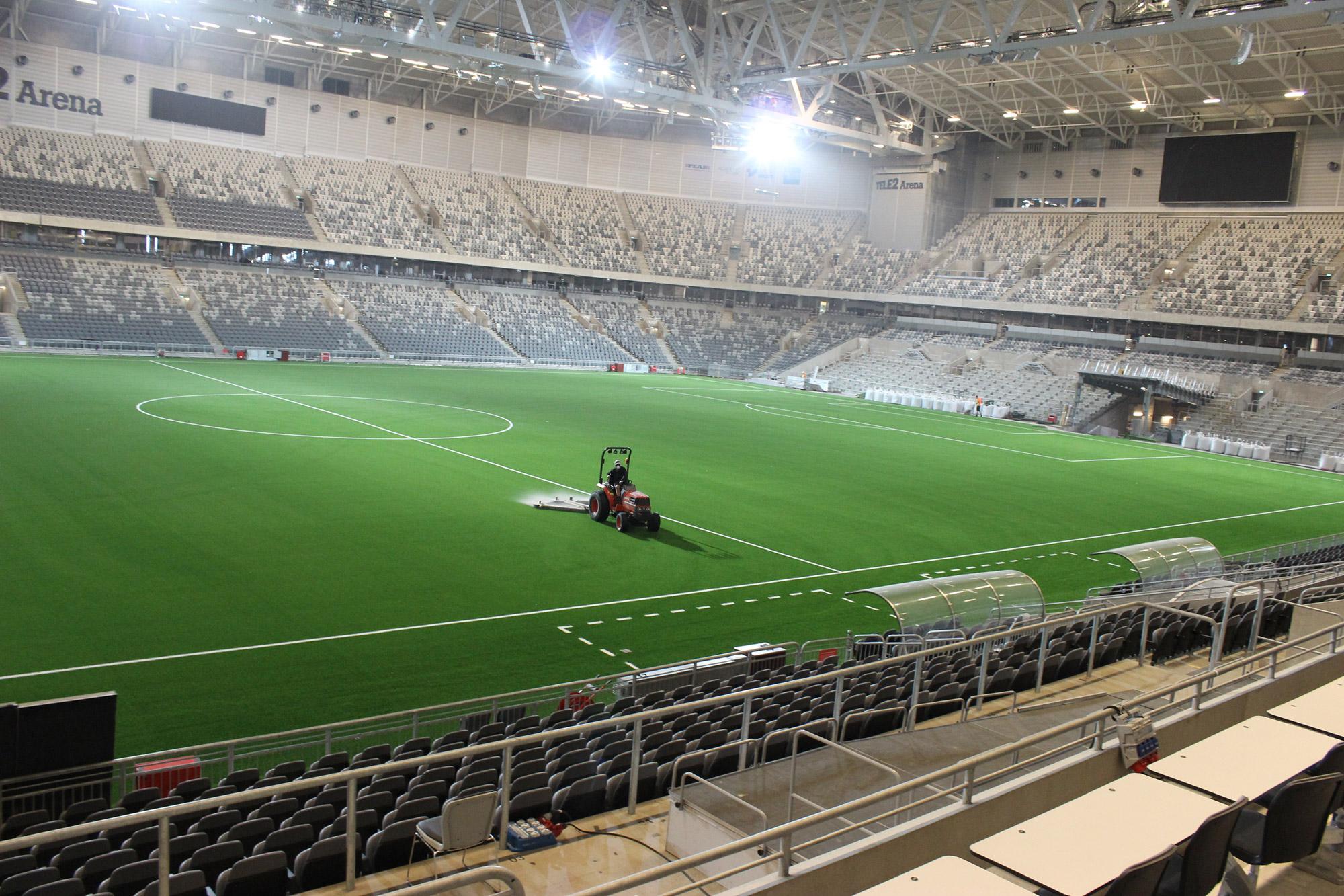konstgräs tele2 arena unisport