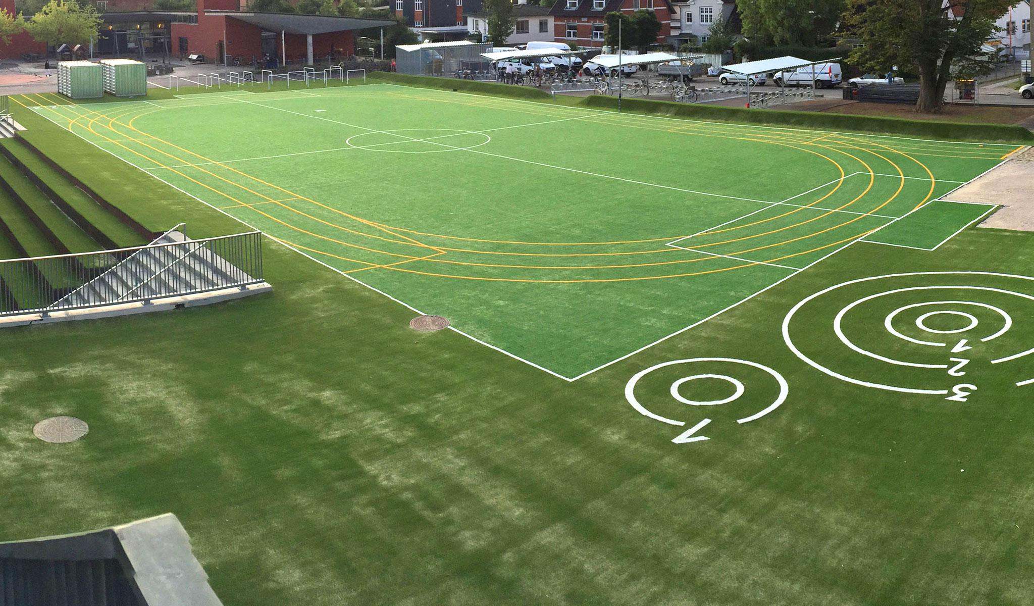 kunstgræs kirkebjerg skole unisport