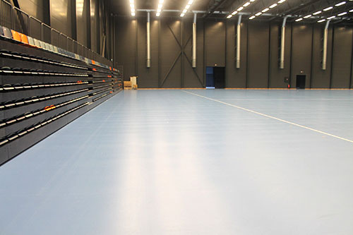 telescopic seating sports flooring unisport