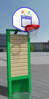 Extra basketkorg agorespace näridrottsplats multiarena i trä unisport