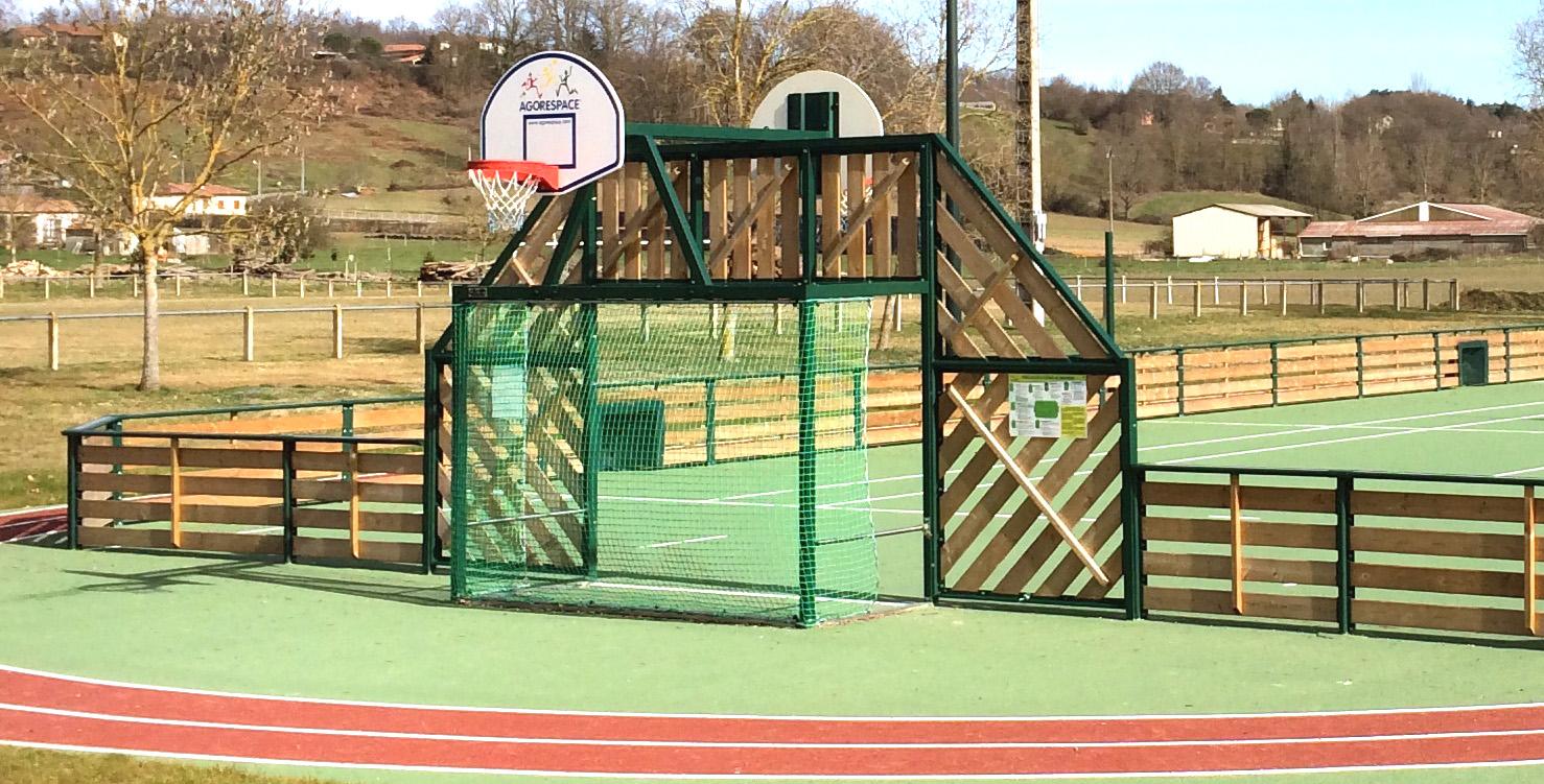 Agorespace näridrottsplats multiarena i trä unisport