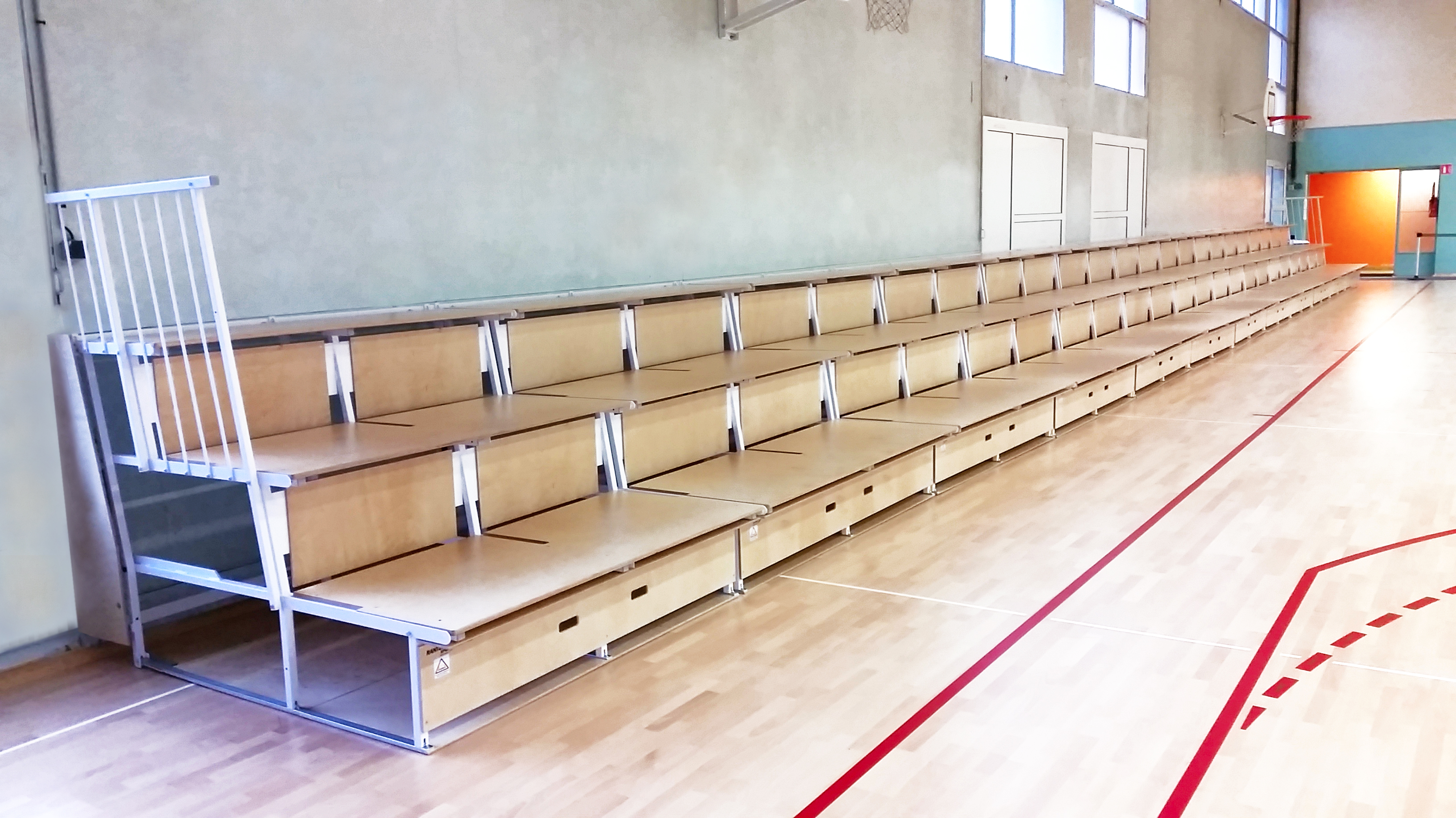 Foldable Bleachers unisport