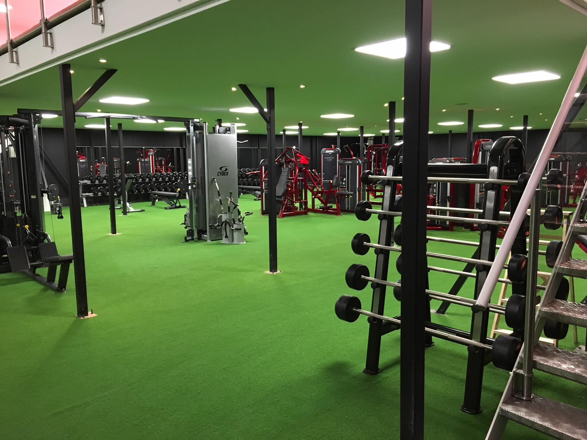 kunstgressbana løpebane gym unisport