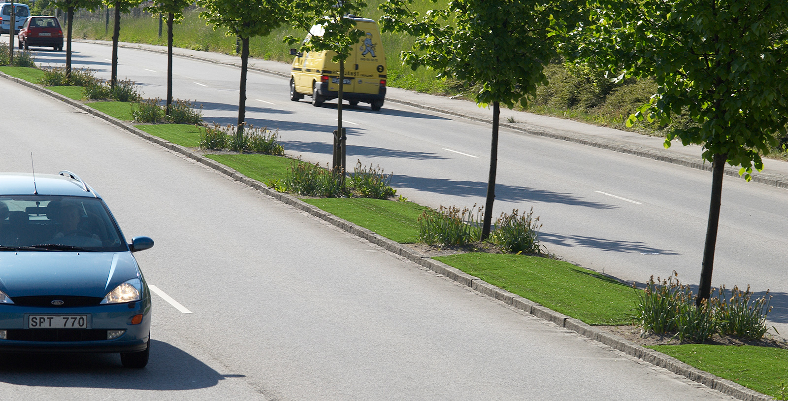 kunstgress trafikkmiljø rundkjøring oppholdssted midtrabatt unisport