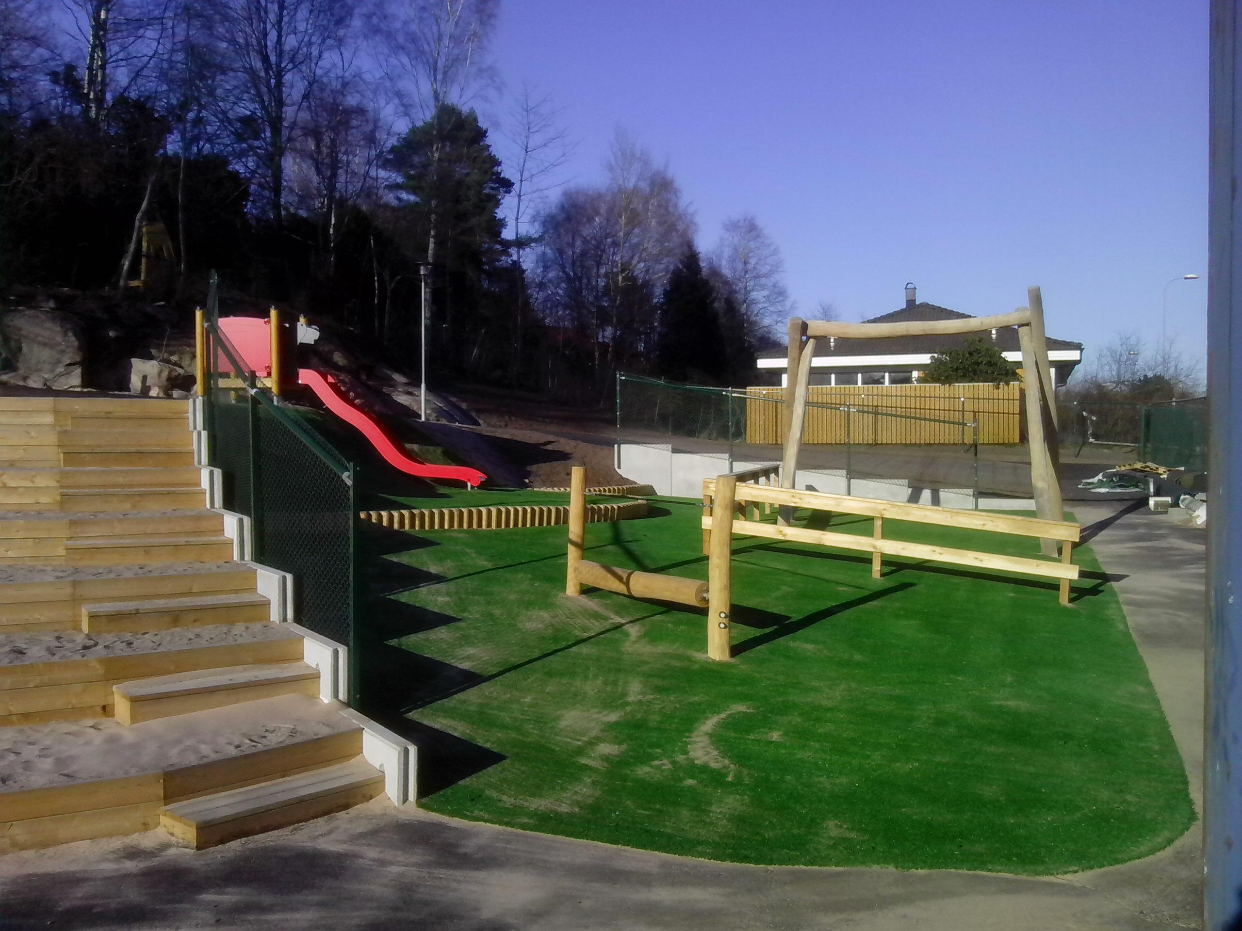 konstgräs fallskydd lekplatser unisport