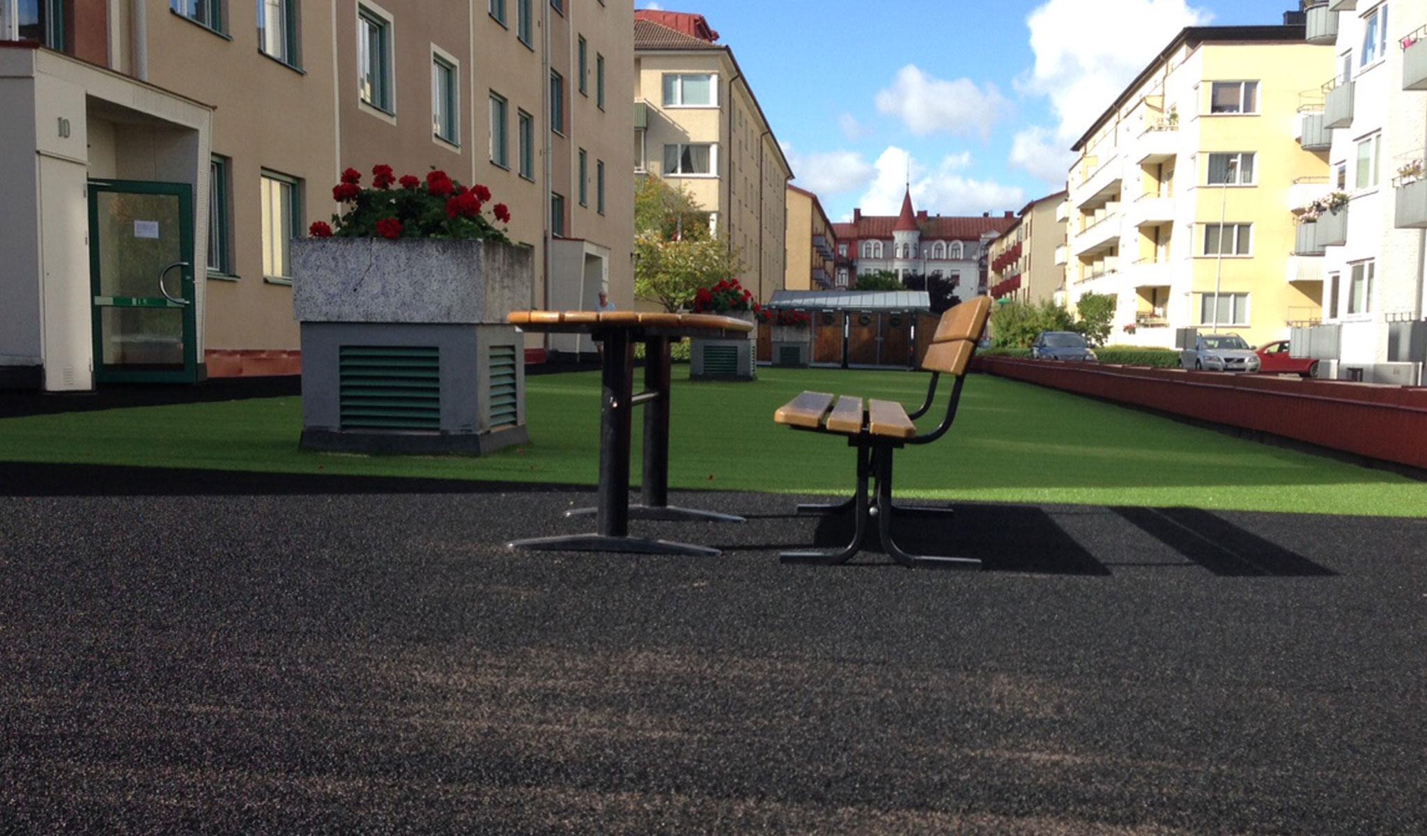 kunstgress bygård tradgard terrasse unisport