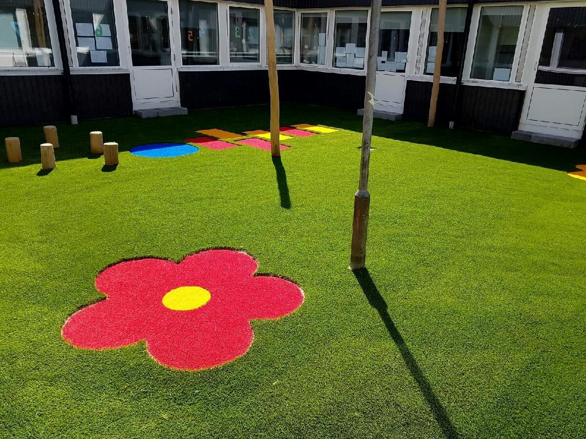 kunstgræs legeplads skole unisport