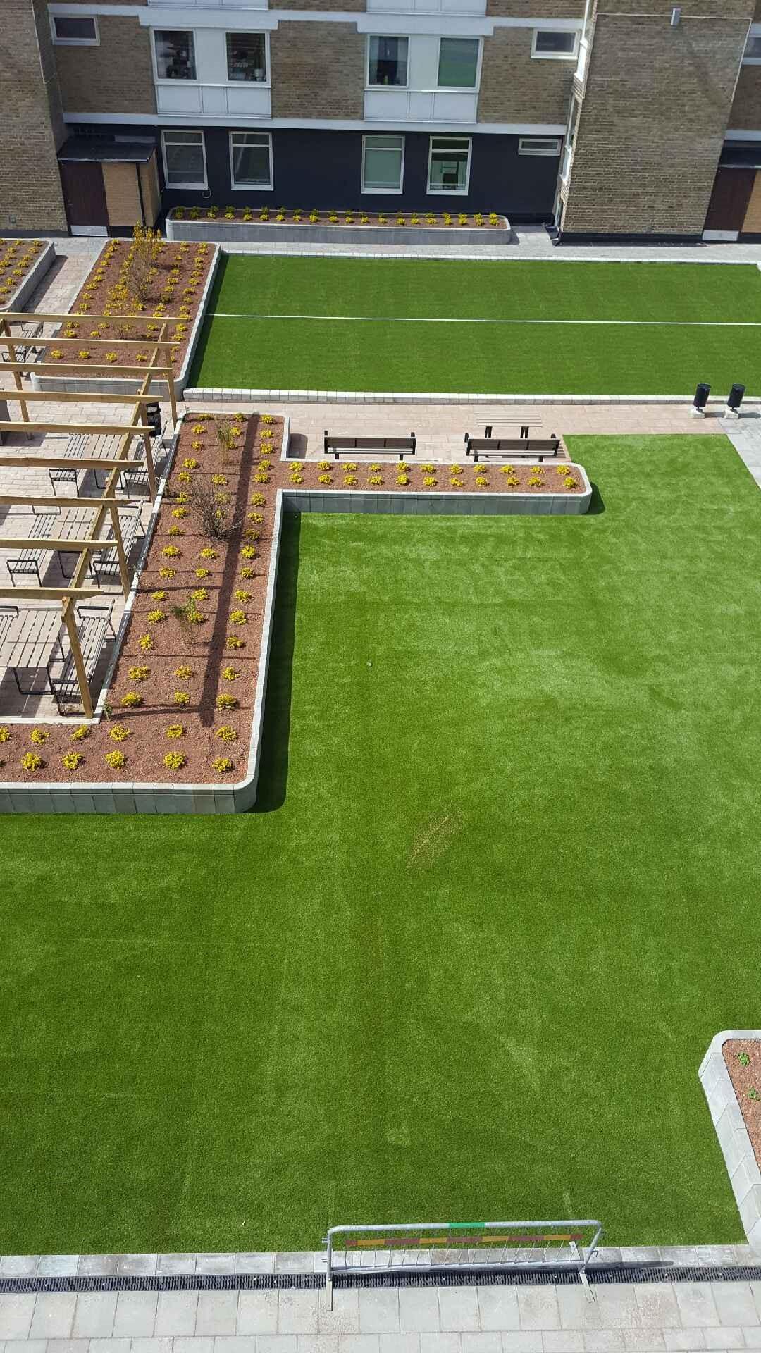 konstgräs takterrass terrass bostadsrättsföreningar unisport