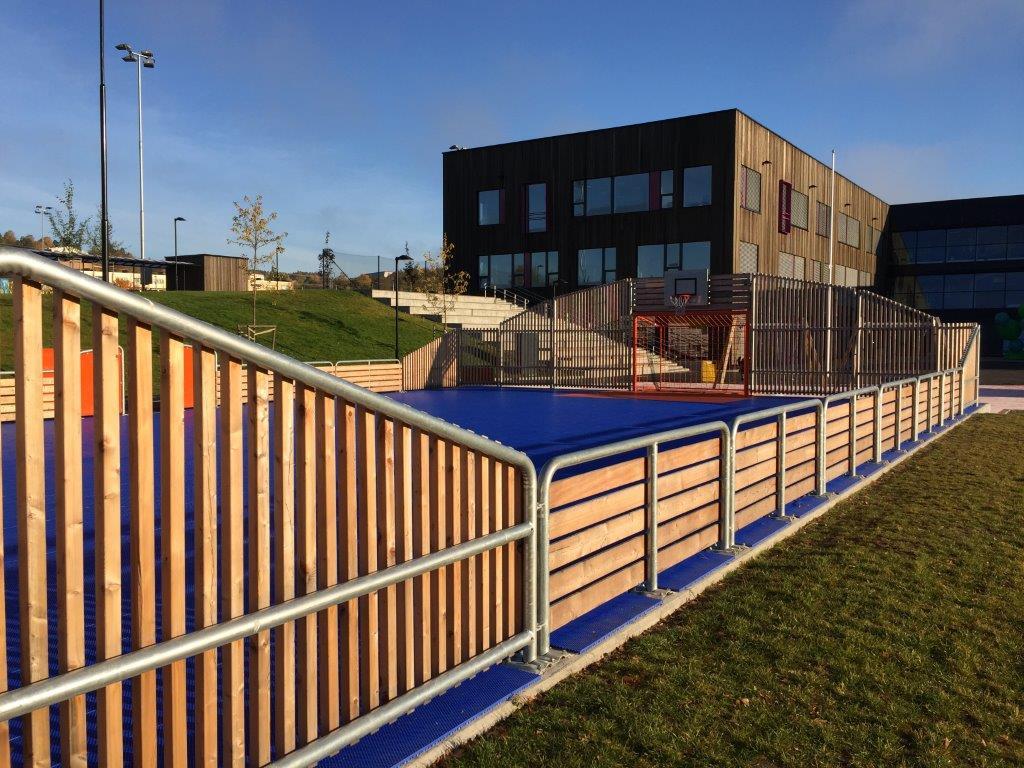 Uniarena wood näridrottsplats multiarena i trä och stål unisport