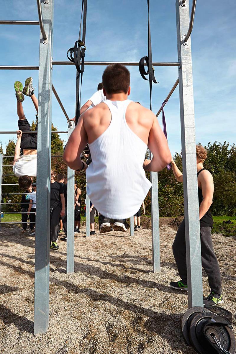 utegym i stål playparc från unisport