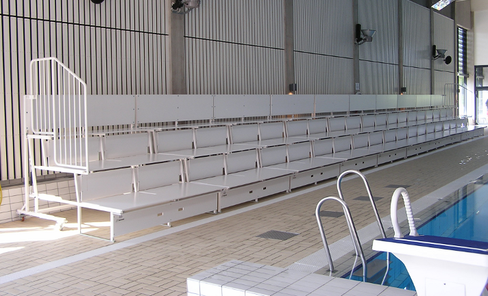 portable folding bleachers unisport