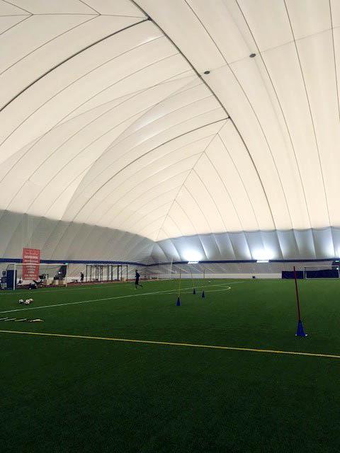 övertryckshall airdom funktionell träning konstgräsplan unisport