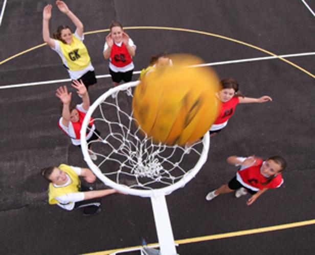 Freestanding International Netball Posts by Unisport