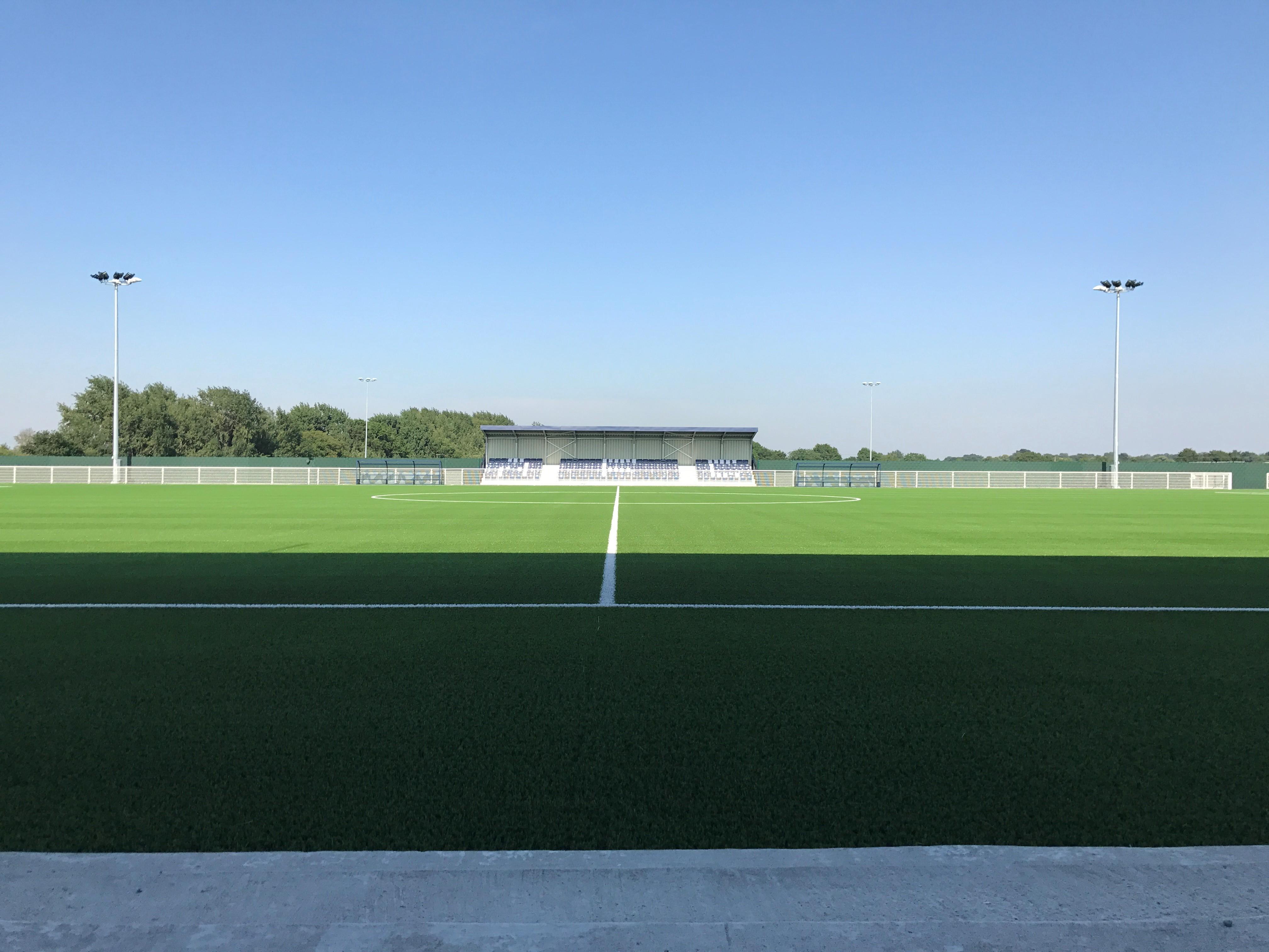 artificial turf grass saltex drop unisport parkside aveley football club england