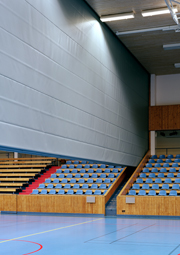 Sports Hall T1000 Motorised Acoustic Divider by Unisport