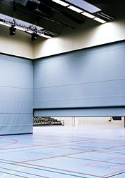Sports Hall T2000 Motorised Acoustic Divider by Unisport