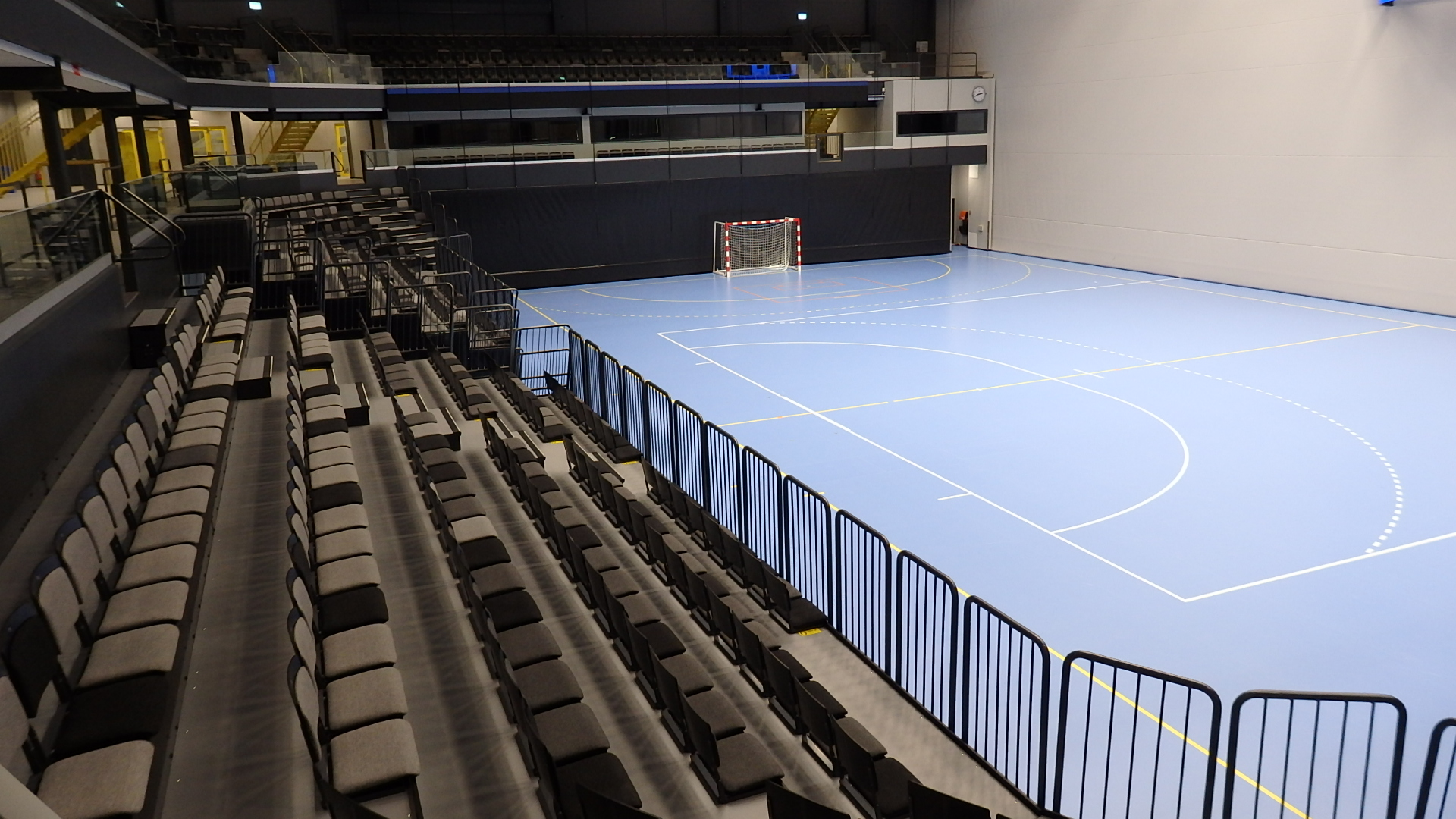 telescopic seating arena seating sports flooring floor covering unisport