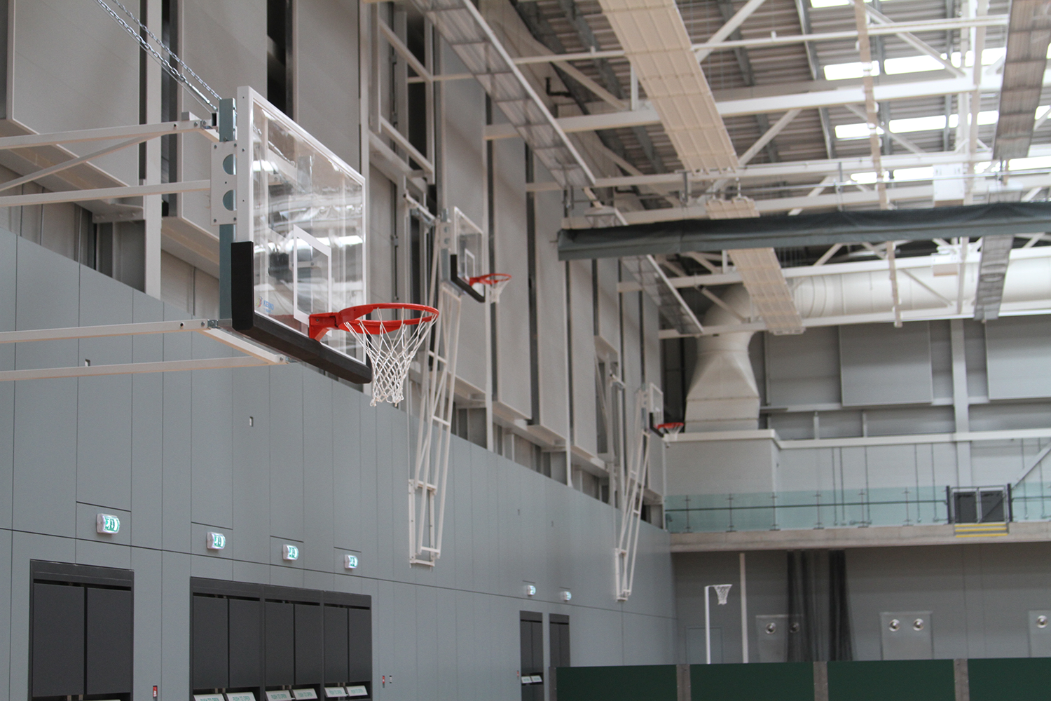 Emirates Arena Basketball Goals by Unisport
