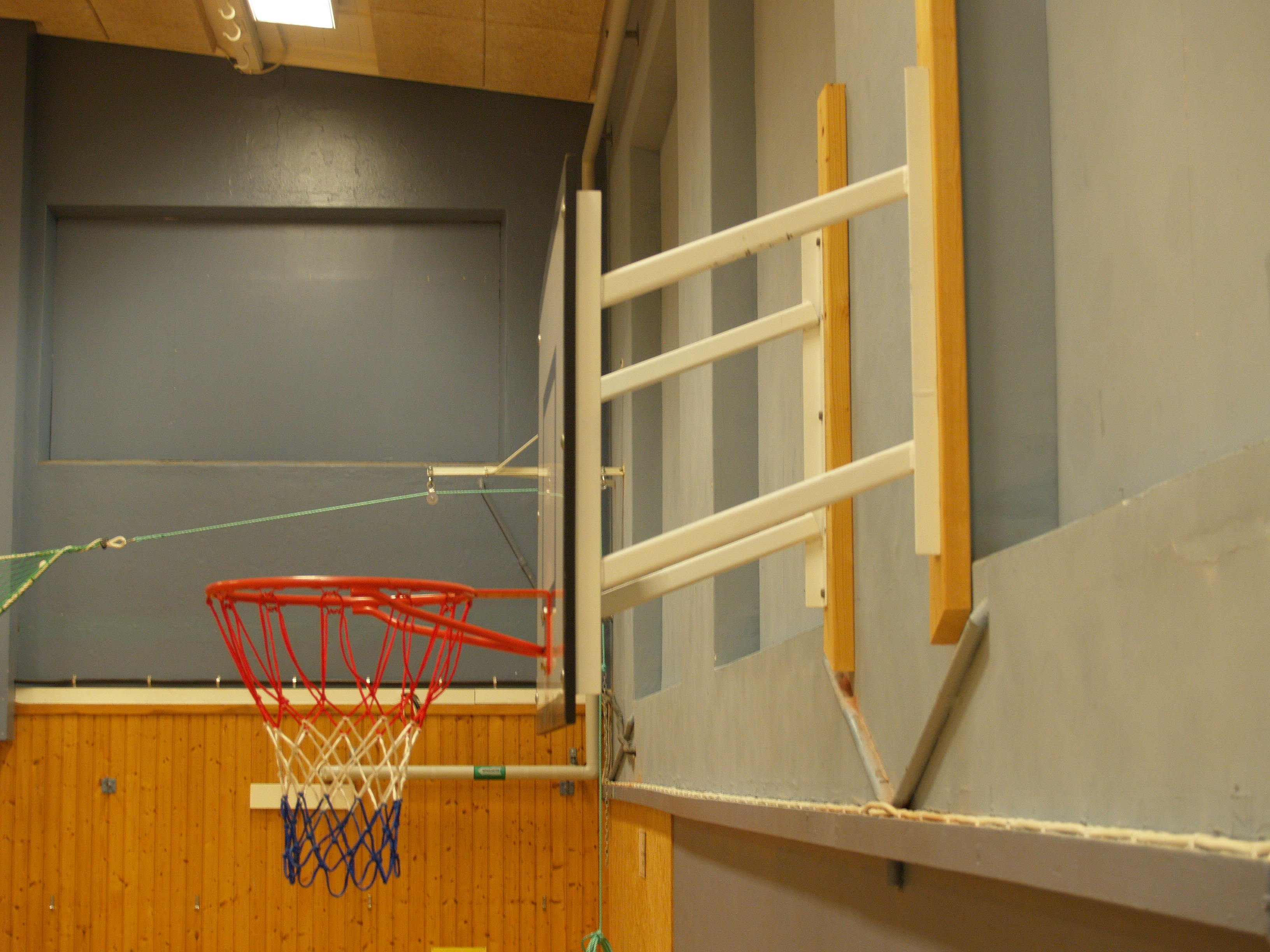 Side View of Fixed Projection Practice Basketball Goal by Unisport