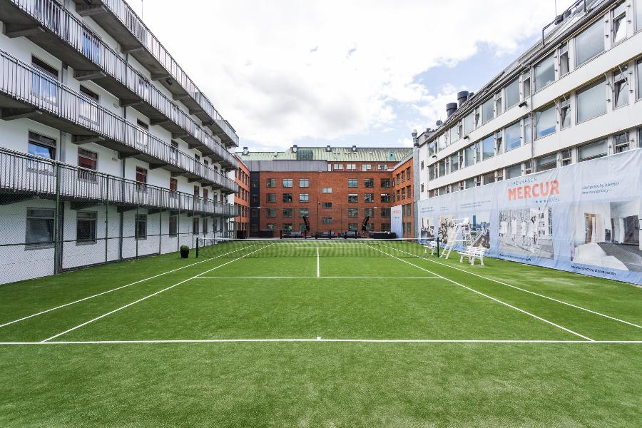 kunstgræs tennisbane fra unisport