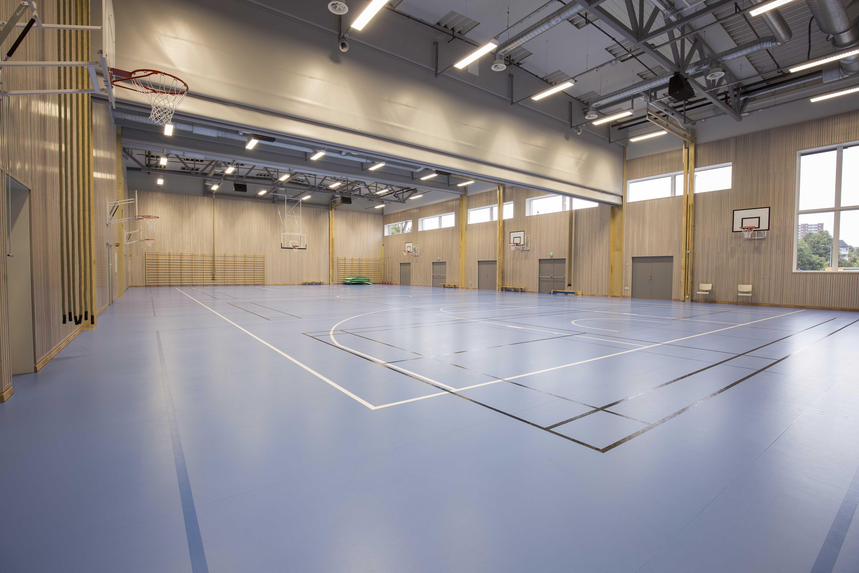 sportsgulv skillevegg indoor unisport