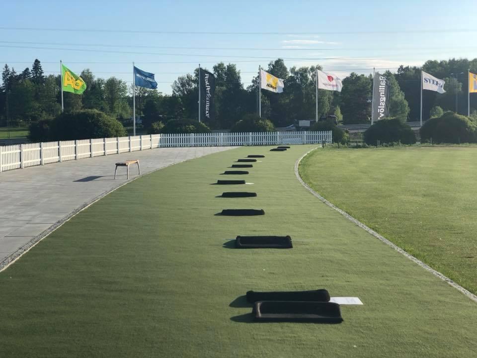 öseteråkers golfklubbmed konstgräs till range, tee, green från unisport