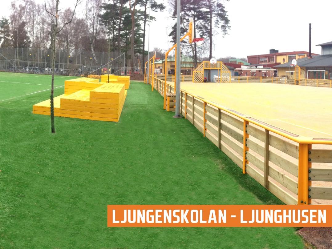 Agorespace multiarena näridrottsplats trä ljunghusen från unisport