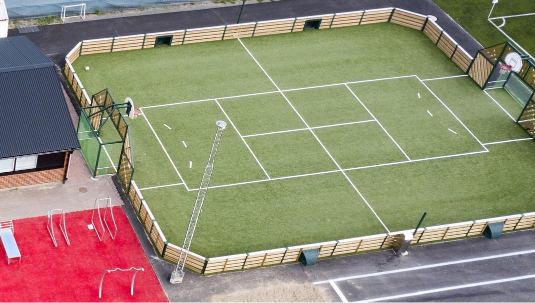 Agorespace näridrottsplats/multiarena näridrottsplats trä landskrona från unisport