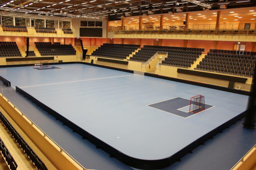sportgolv innebandygolv läktarstolar ifu arena från unisport