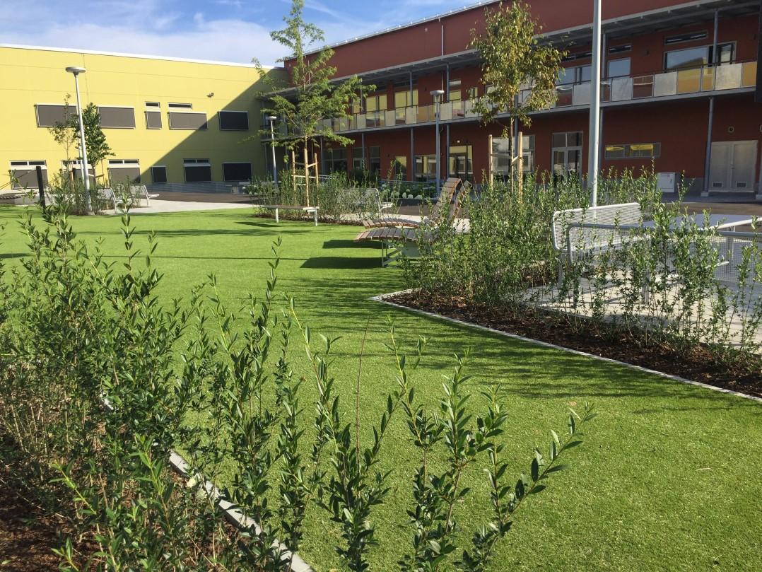 konstgräs landscaping skolgård lekplats unisport