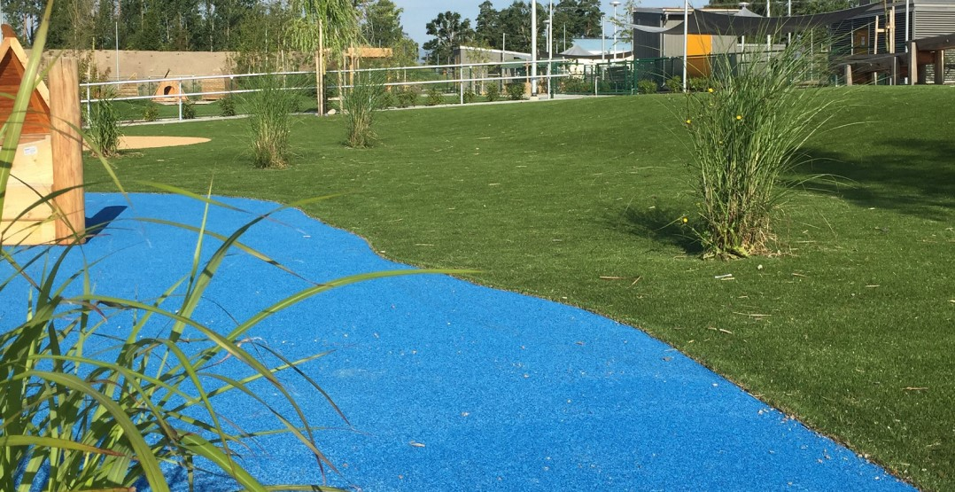 konstgräs och fallskyddgummi landscaping skolgård lekplats unisport