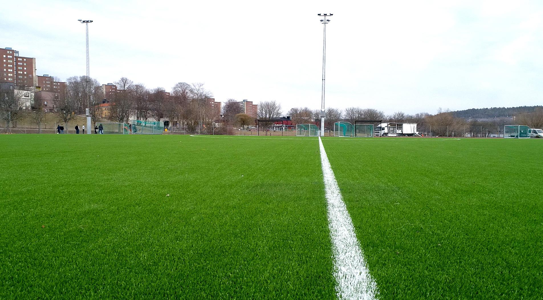 saltex biofill saltex legacy konstgräsplan miljövänlig unisport botkyrka kommun