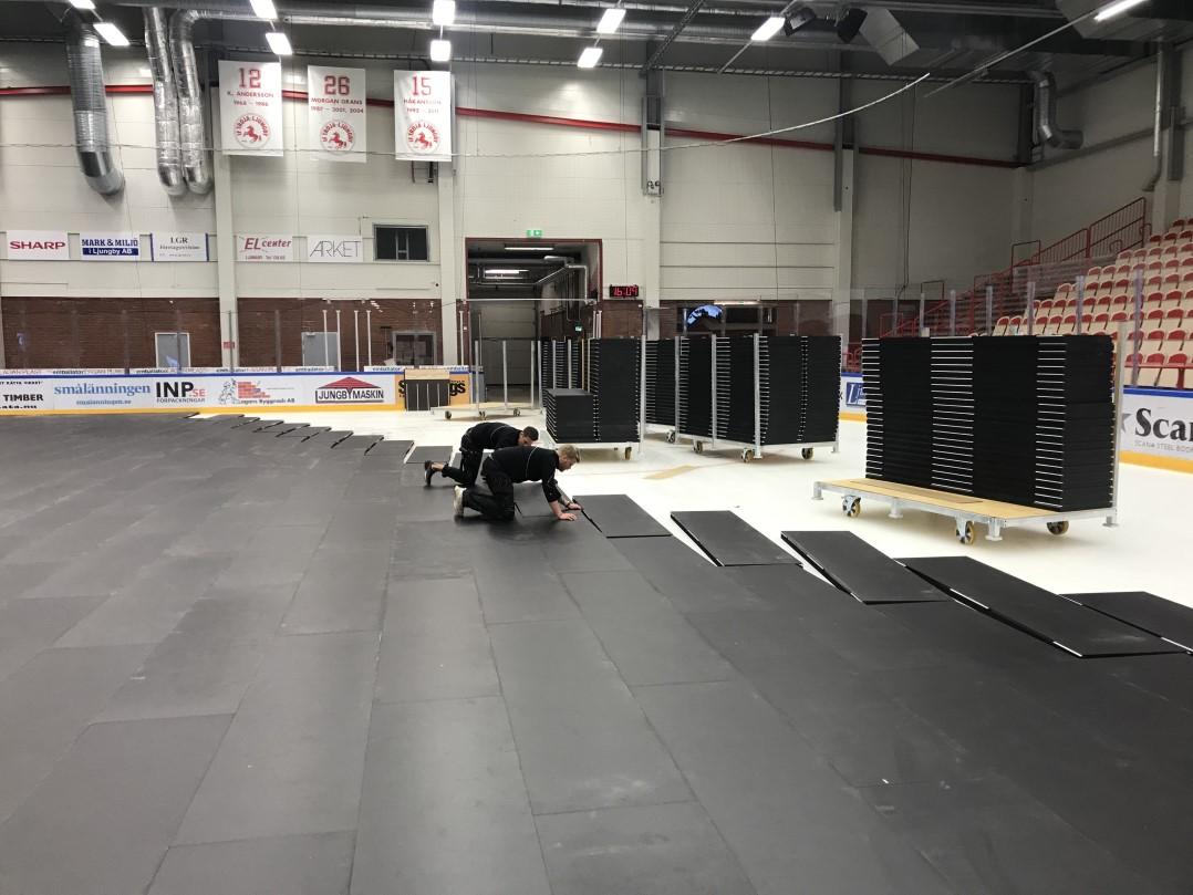 speed-lock ice pro cover täckssystem täckgolv för is unisport