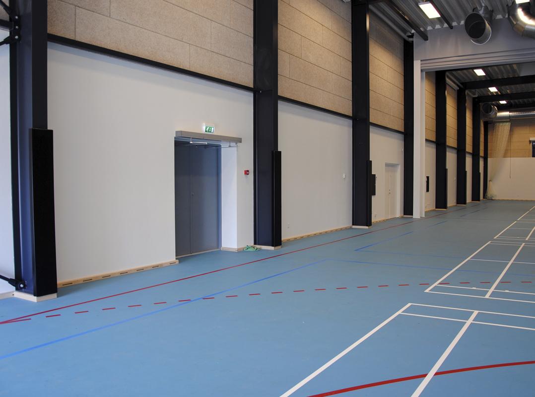 polstring for sikker idrettshall fra unisport