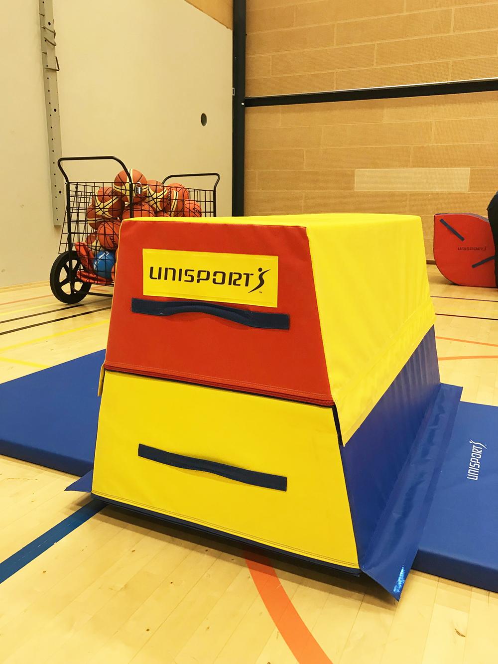 Koululiikunta voimistelu liikuntatunti liikuntahalli liikuntasali softline alastulomatto hyppypukki Unisport