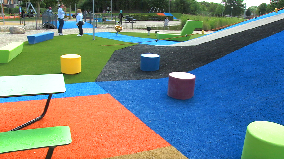 artificial grass and fall protection - unisport