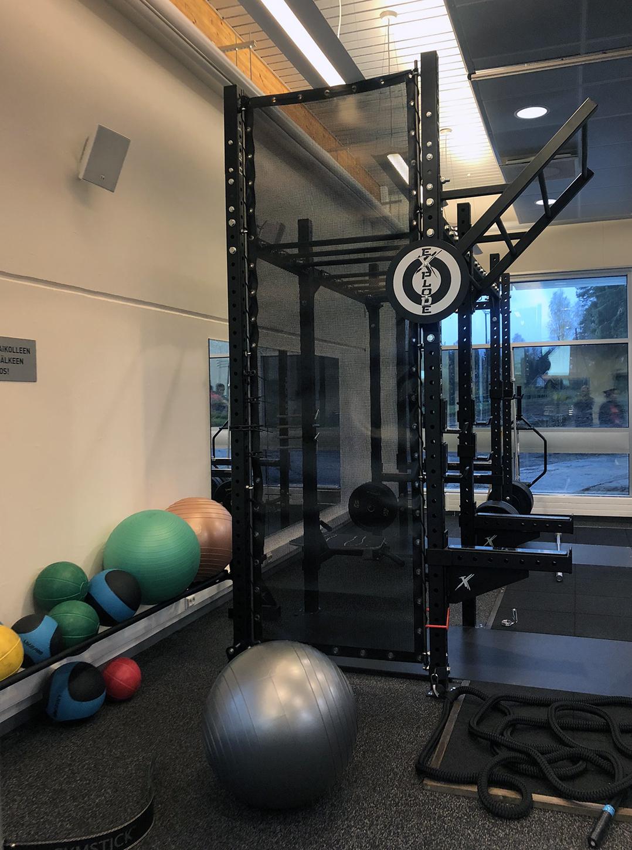 Unisport toiminnallistava harjoituskonsepti, urheilulattiat, tatami, judo, kuntosali, nyrkkeily