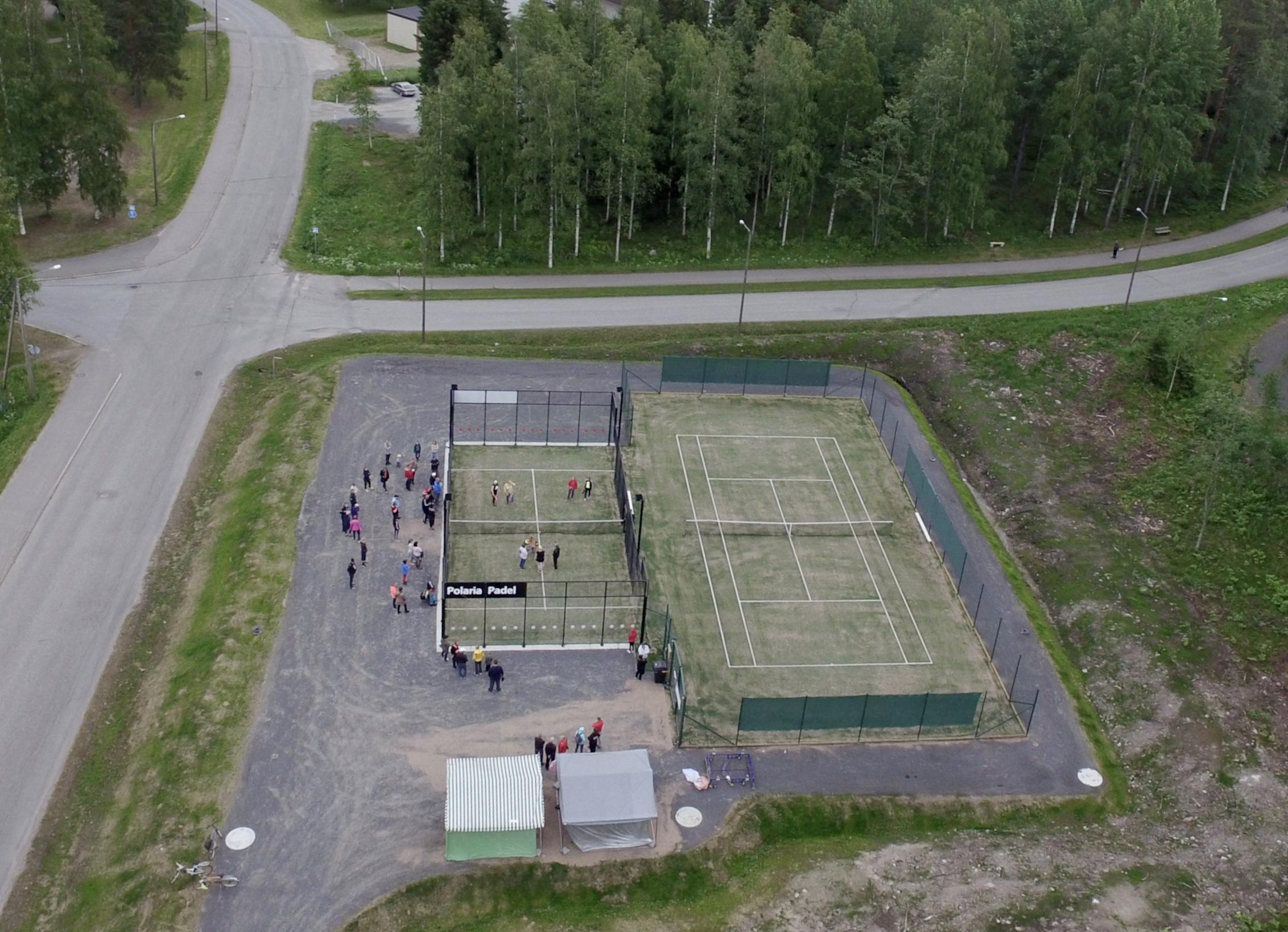 Padelkenttä unisport tekonurmi padel  padel-kenttä padel kenttä