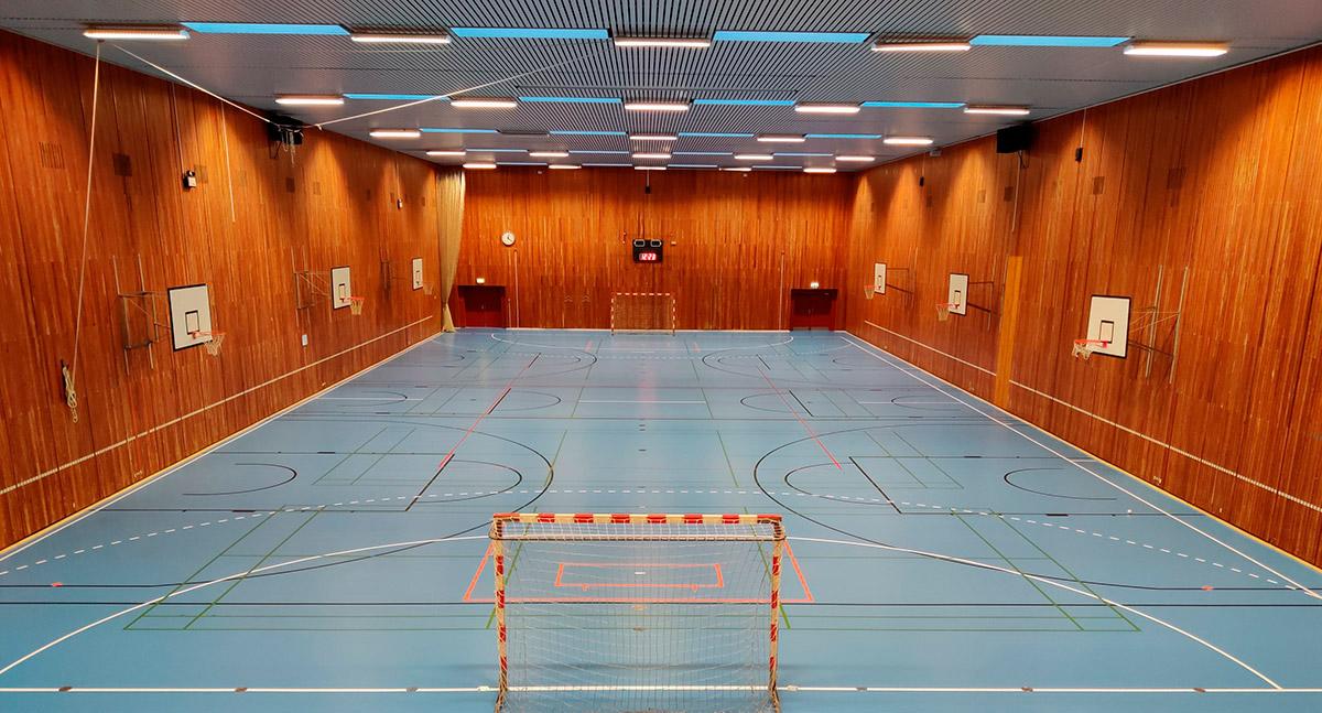 Renoveringsgulv - Frydenhøjhallens nye Taraflex gulv
