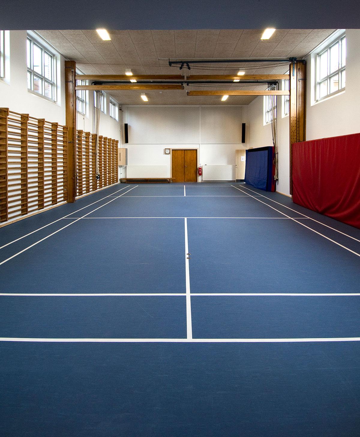 Renoveringsgulv - Hatting Hallens nye linoleum gulv