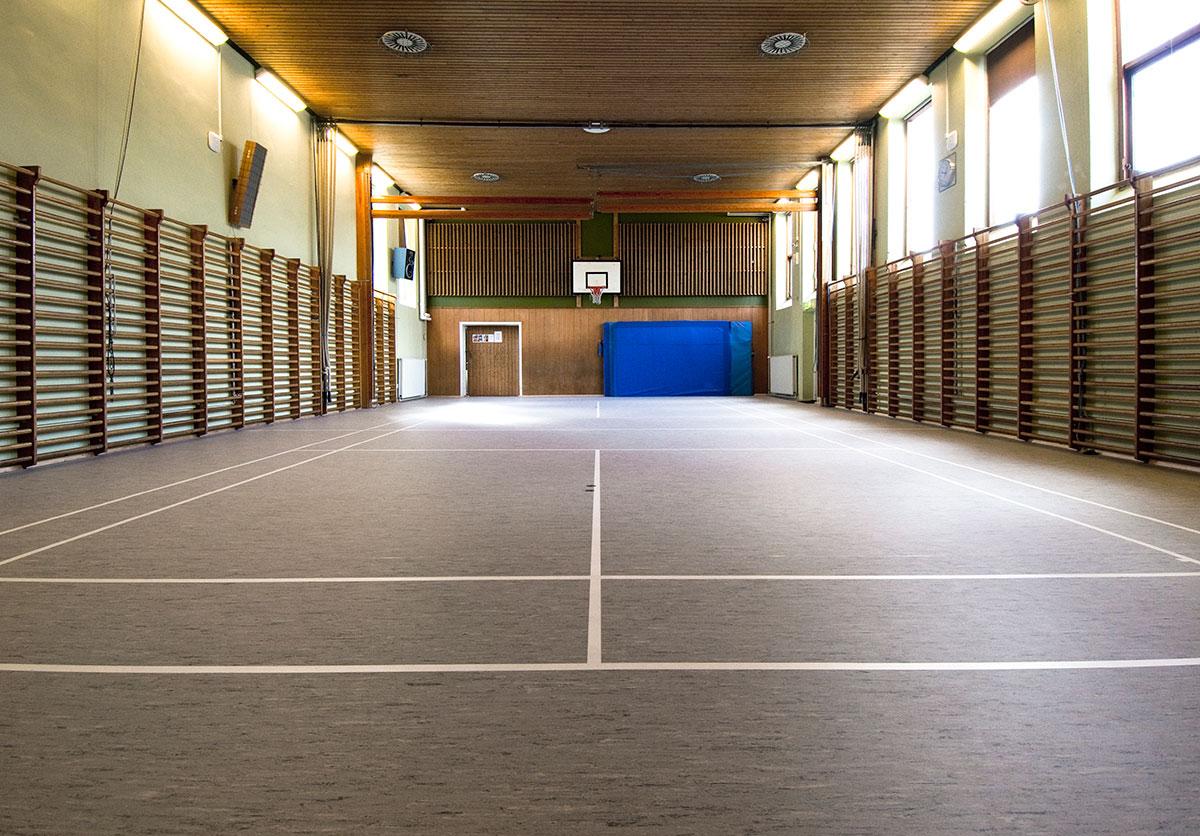 Renoveringsgulv - Lund skolens nye linoleum gulv