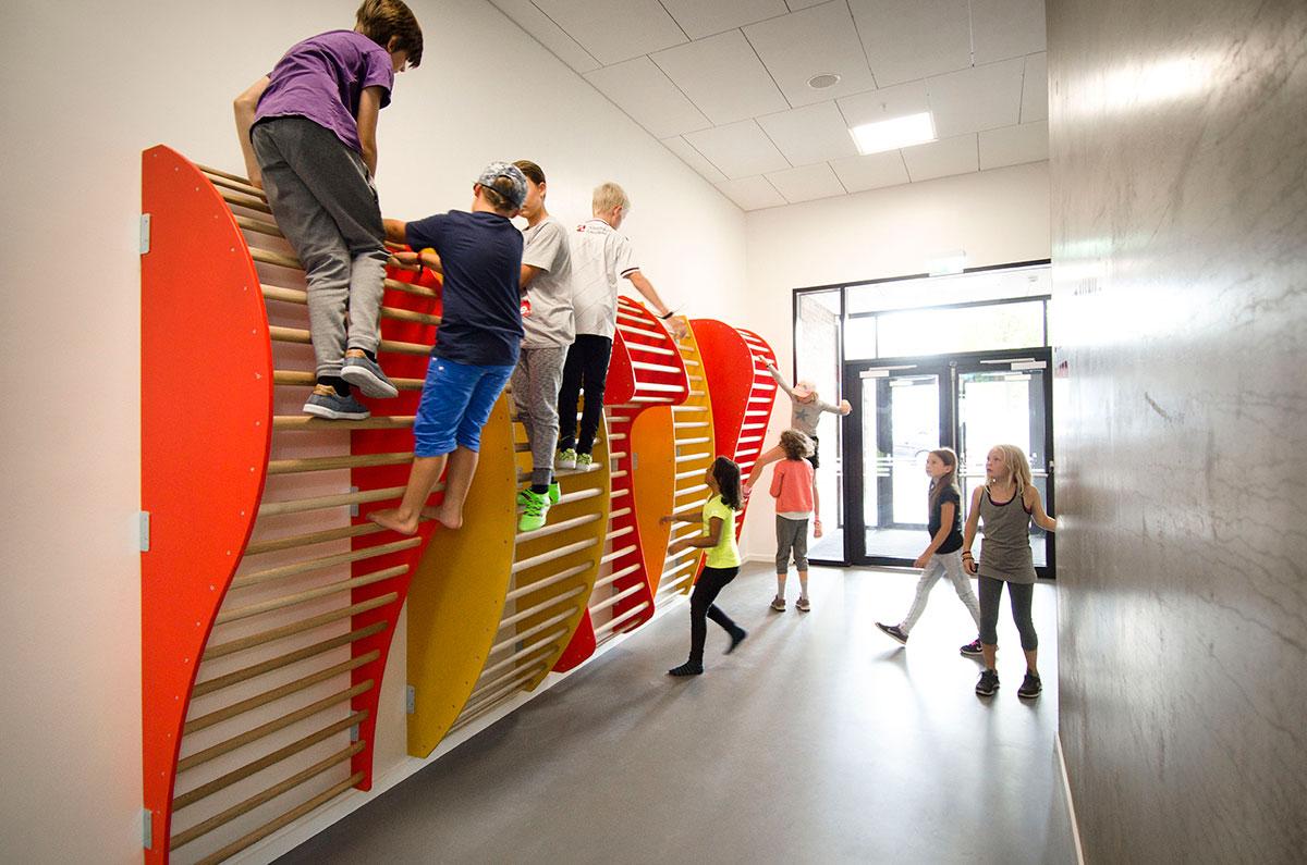 Organiske ribber, Frederiksbjerg skole