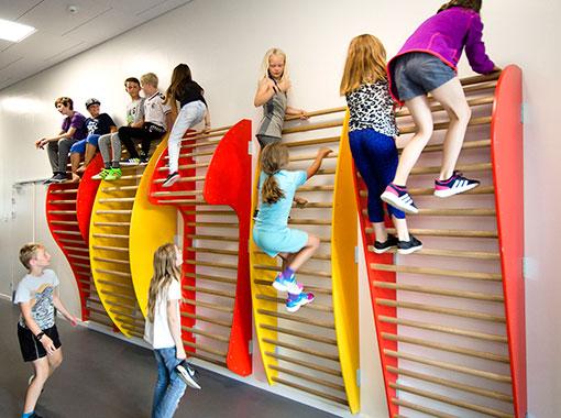 Organiske ribbevegger, Frederiksbjerg skole, Unisport