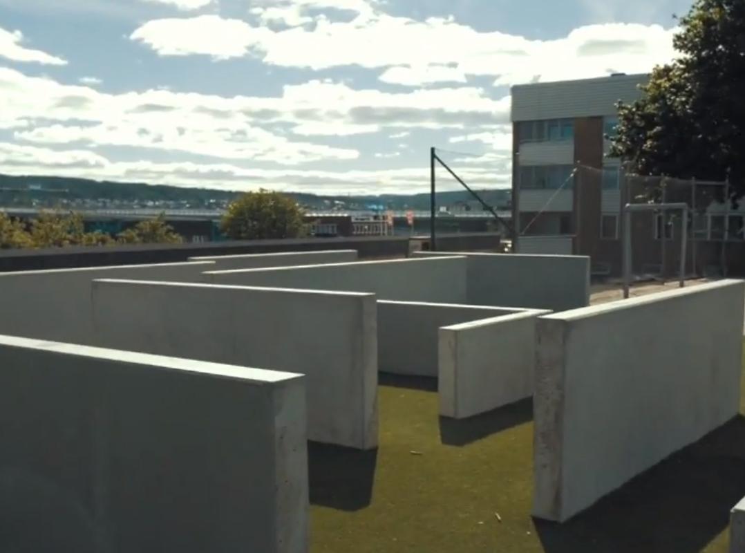 parkour unisport betong kunstgress