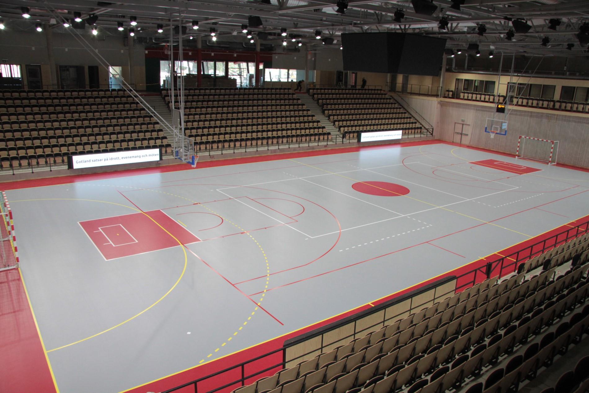 visborg arena gotland sportgolv läktarsystem unisport