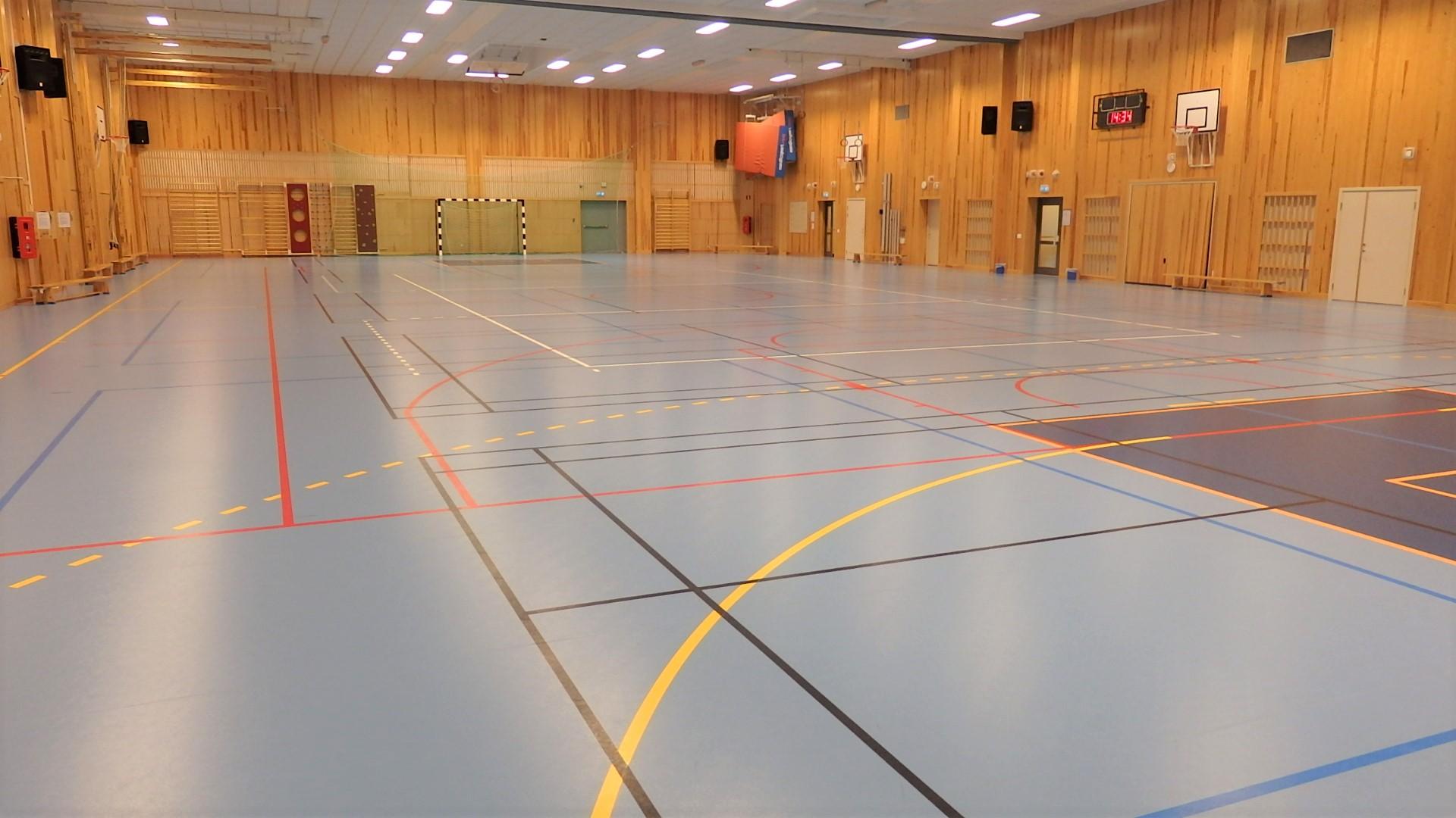 sportgolv sporthallsinredning unisport