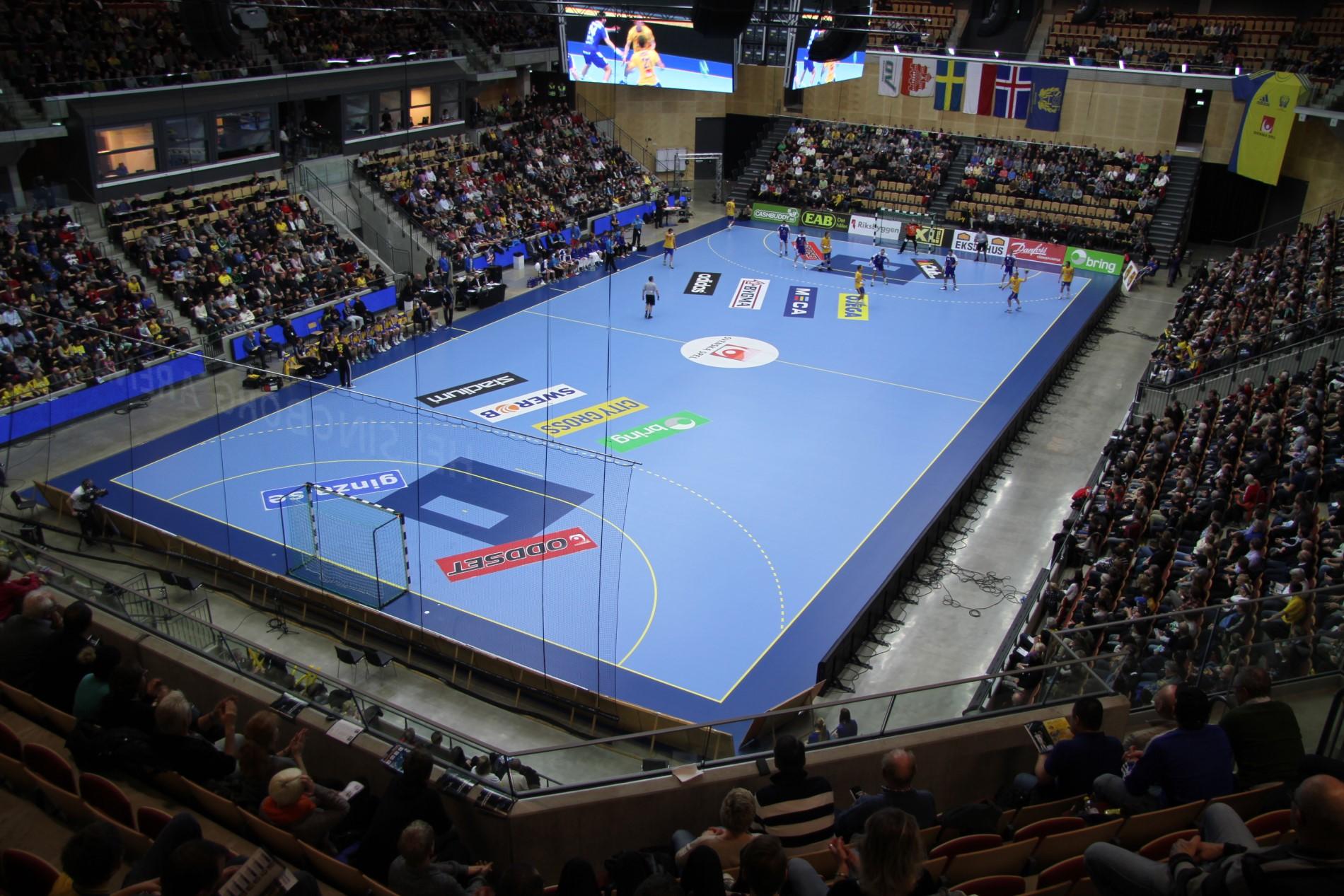 helsingborg arena sportgolv läktarsystem unisport