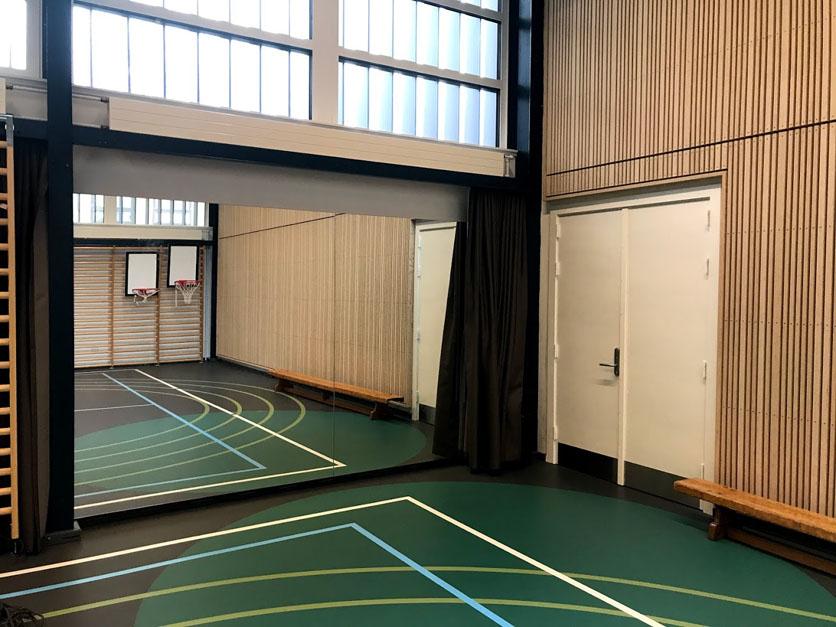 Ålholm skole, spejlvæg, Unisport