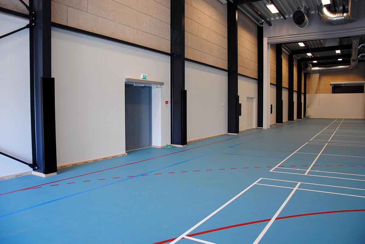 Sikkerhedspolstring Unisport Silkeborg Gymnasium